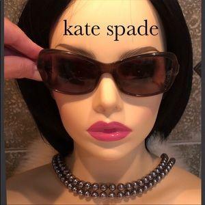 kate spade ♠️ Olive Green Rectangular Sunglasses